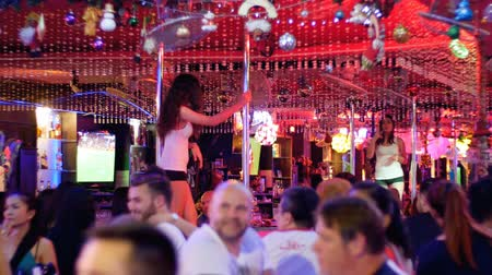 striptease : Pattaya Walking Street. Striptease bars and go-go dances. Thailand.