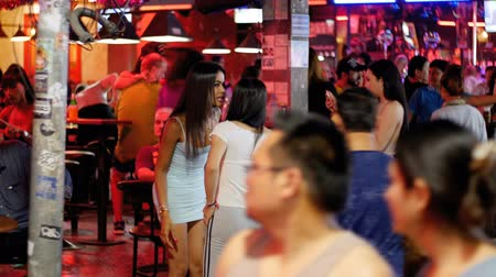 striptease : Prostitutes on Pattaya Walking Street is red-light district. Thailand. Night life and sexual entertainments