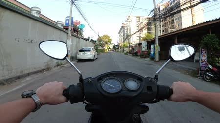 vietnami : POV view on Riding motorbike along the Asian Road Traffic. Thailand, Pattaya