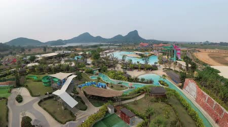 surat : General view from above to the Aqua Park of the Ramayana. Thailand