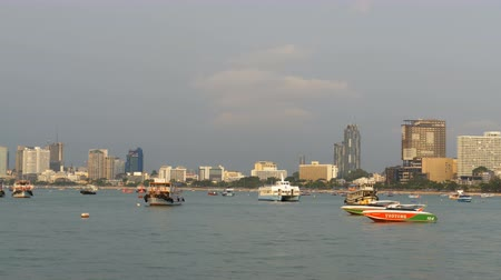 linked : Many Tourist Boats and Ships are on the Pier in the Port of Pattaya. Thailand