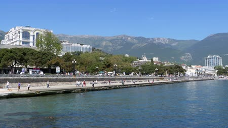 soar : Embankment of Yalta. Crimea.
