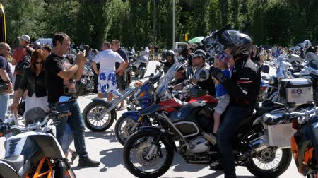 fiesta : Motorbikes Ride on Festival. Many motorcycles ride on the bike festival.
