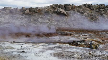 Geothermal area at Hverir Wideo