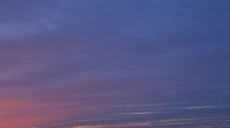 Sunset clouds timelapse motion nature composition. Beautiful sky.