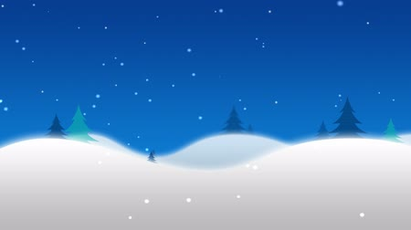 télen : Christmas  Winter scene with cartoon north pole and animated snow
