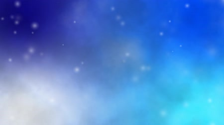 HD soft blue galaxy background with twinkling stars moving in space