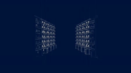 blokkok : Animated Drawing Of Apartment Houses
