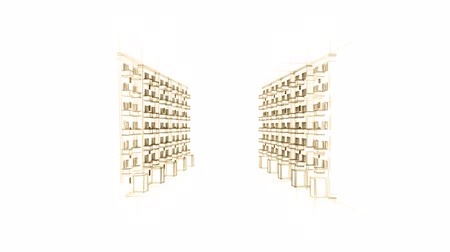 architektonický : Animated Drawing Of Apartment Houses
