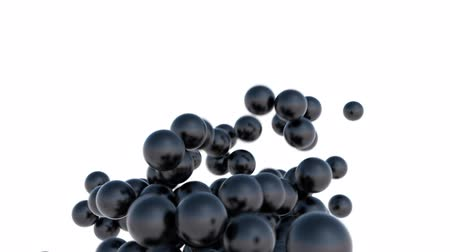 gyöngyszem : Seamless Background Of Black Balls In Abstract Motion Stock mozgókép