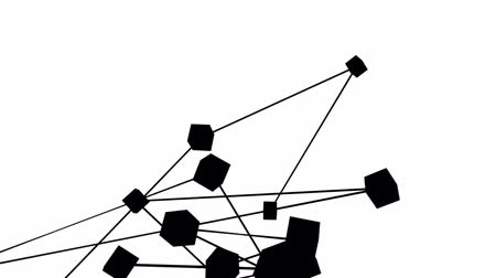 bağlantılı : Complex Network Of Connected Black Cubes In Motion