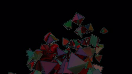 pyramidal : Seamless Background Of Crazy Colors Pyramids In Abstract Motion