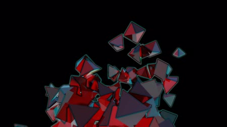 pyramidal : Seamless Background Of Red Pyramids Seamless Background Of Crazy Colors Pyramids In Abstract MotionIn Abstract Motion Stock Footage