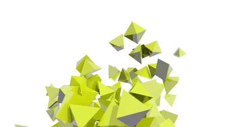 pyramidal : Seamless Background Of Green Pyramids In Abstract Motion