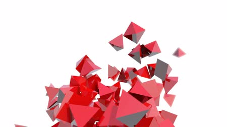 pyramidal : Seamless Background Of Red Pyramids In Abstract Motion