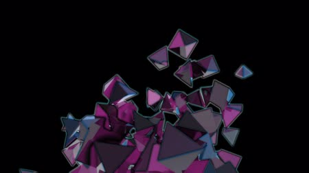 pyramidal : Seamless Background Of Pink And Blue Pyramids In Abstract Motion Stock Footage