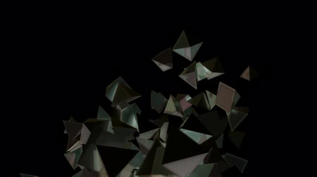 pyramidal : Seamless Background Of Black Pyramids In Abstract Motion Stock Footage