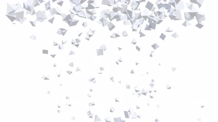 pyramidal : Seamless Background Of White Pyramids In Abstract Motion Stock Footage