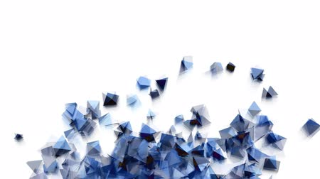 pyramidal : Seamless Background Of Blue Pyramids In Abstract Motion