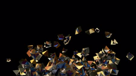 pyramidal : Seamless Background Of Brown Pyramids In Abstract Motion