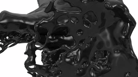 fluido : Black Liquid Splashes Abstract