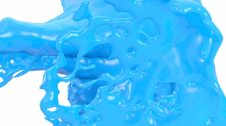 fluido : Light Blue Liquid Splashes Abstract