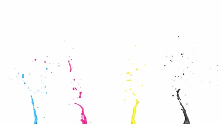 canal : Seamless Cmyk Splashes, Alpha Channel