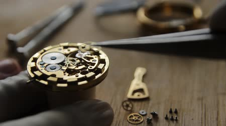 věčnost : Watchmaker is repairing the mechanical watches in his workshop Dostupné videozáznamy