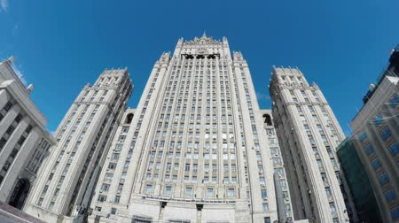 stalinist : MOSCOW - AUGUST 2, 2015: Main building Ministry Of Foreign Affairs of Russia. Stock Footage