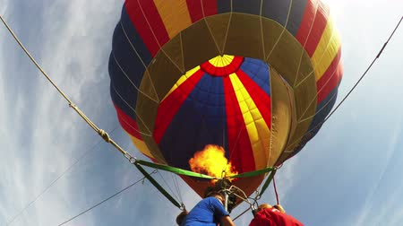 levegő : Hot air balloon Stock mozgókép