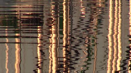 saronic : Masts are reflected in water