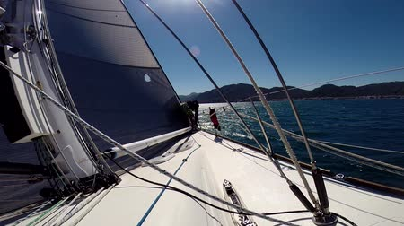 saronic : sailing yacht goes against the wind