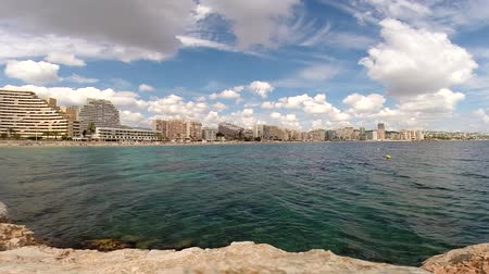 view from the sea on the calpe, spain. Dostupné videozáznamy