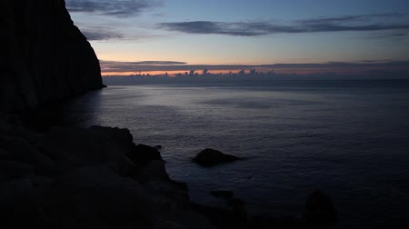 meditativo : dawn over the sea in spain Vídeos