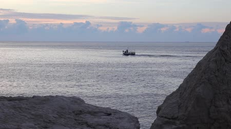 fishing boat goes to the open sea