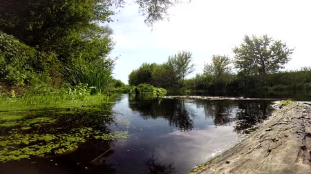 small quiet river in central Russia in the Voronezh region
