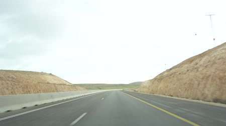 dividing : Road in Israel. Way to the Dead Sea