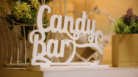 doces : Delicious wedding reception candy bar dessert table