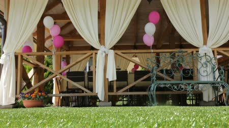 doğum günü : decorated event wedding waiting for guests Stok Video