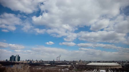 time journey : moscow wide shot from high point time lapse
