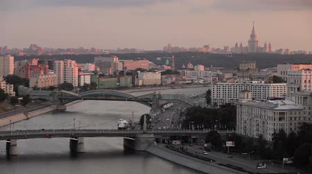 moskwa : Moscow wide shot with river