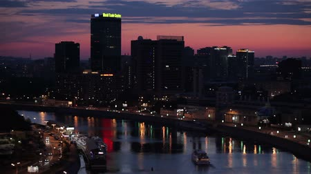 moscow panorama : Moscow general view sunset Stock Footage