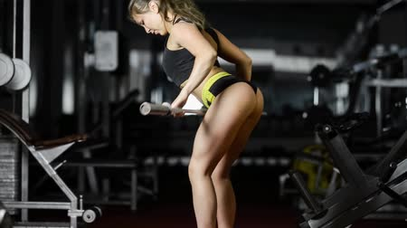 levantamento de pesos : A woman in the gym Vídeos