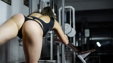 gym : A woman in the gym Stock Footage
