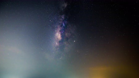 созвездие : Time lapse of milky way at the lake in night time