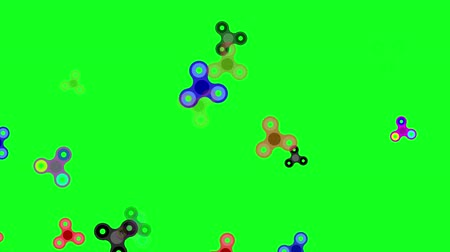 Spinning spinner. Green background. Splash screen. Computer graphics. Loop.