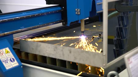 cortador : Cnc machine makes part in the factory Stock Footage