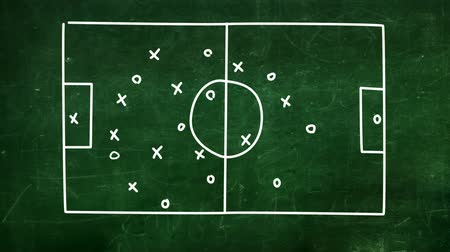 estratégico : football strategies. Stock Footage
