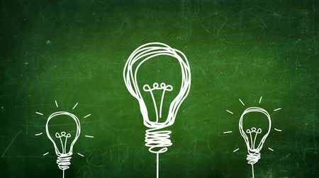 motivasyonel : light bulb idea Stok Video