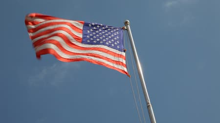 kutup : Closeup of the U.S. flag. Stok Video